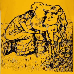 Lady Milking a Cow - Kids' Premium T-Shirt