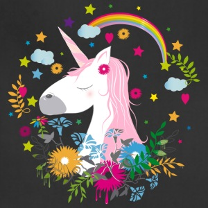 Cute unicorn with pink hair Aprons - Adjustable Apron