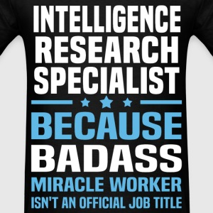 Intelligence Research Specialist Tshirt - Men's T-Shirt