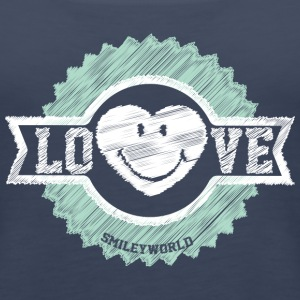 SmileyWorld Cute Love Badge - Women's Premium Tank Top