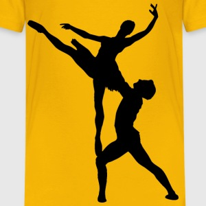 Woman And Man Ballet Silhouette - Kids' Premium T-Shirt
