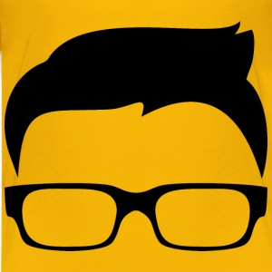 Hipster Boy Silhouette Icon - Kids' Premium T-Shirt