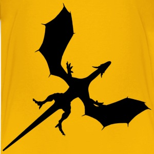 Dragon Wingspan Silhouette - Kids' Premium T-Shirt