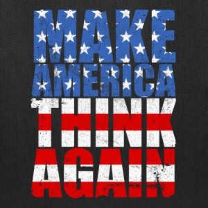 Make America Think Again Anti-Trump Slogan  - Tote Bag