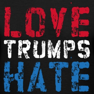 Love Trumps Hate Anti-Trump - Women's V-Neck T-Shirt