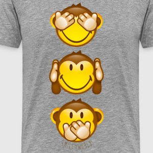 SmileyWorld Three Mystic Apes Horizontal - Men's Premium T-Shirt