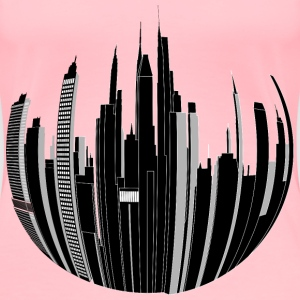 Distorted City Skyline 2 - Women's Premium T-Shirt