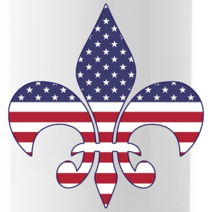 Patriotic American Flag Fleur-de-lis Sportswear - Water Bottle