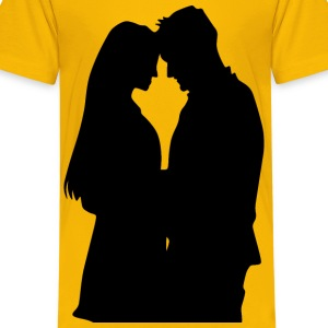 Romantic Couple Silhouette 2 - Kids' Premium T-Shirt