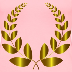 Gold Laurel Wreath 3 No Background - Women's Premium T-Shirt