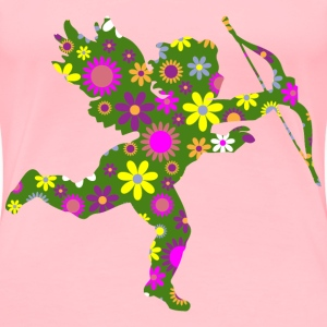 Retro Floral Cupid - Women's Premium T-Shirt