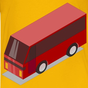 3D Isometric Red Bus - Kids' Premium T-Shirt