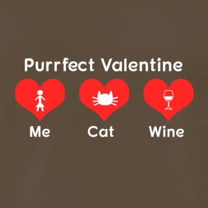 Purrfect Valentine - Men's Premium T-Shirt