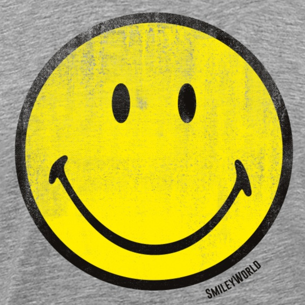 SmileyWorld Classic Oldschool Smiley - Men's Premium T-Shirt