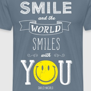 SmileyWorld Smile And The World Smiles With You - Men's Premium T-Shirt