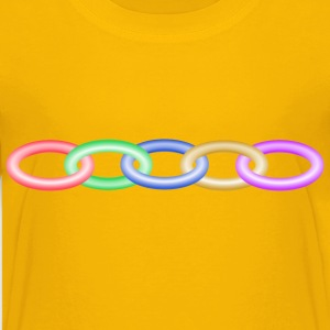 Muticoloured chain - Kids' Premium T-Shirt