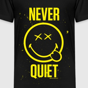 SmileyWorld Never Quiet - Kids' Premium T-Shirt