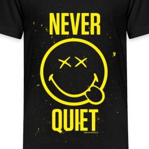 SmileyWorld Never Quiet - Toddler Premium T-Shirt