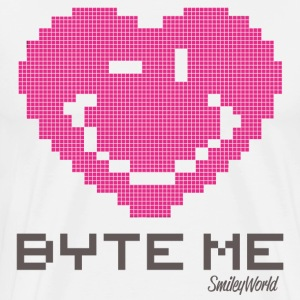SmileyWorld Byte Me Winking Heart - Men's Premium T-Shirt