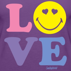 SmileyWorld Love Typography - Women's Premium Tank Top