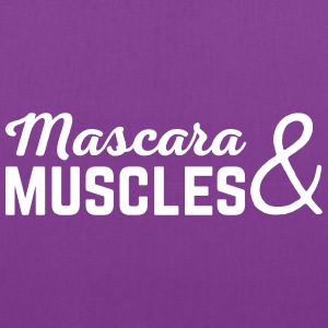 Mascara & Muscles Gym Quote  Bags & backpacks - Tote Bag