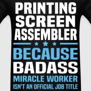 Printing Screen Assembler Tshirt - Men's T-Shirt