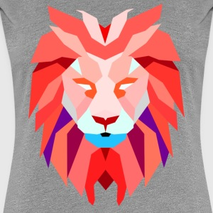 Women's Polygonal Lion Shirt - Women's Premium T-Shirt
