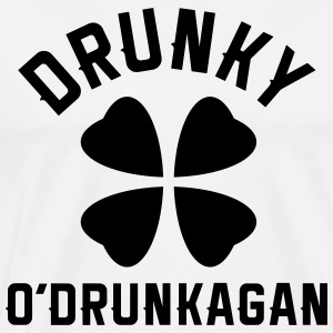 Drunky O'Drunkagan - Vector - Men's Premium T-Shirt