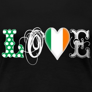 Love Ireland White - Women's Premium T-Shirt