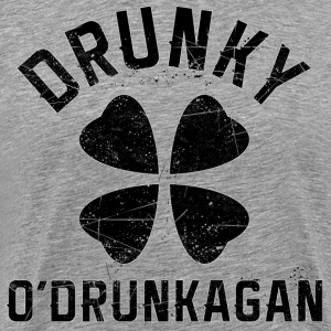 Drunky O'Drunkagan - Black Grunge - Men's Premium T-Shirt