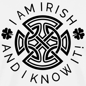 Irish and I Know It - Irish Ornament - Men's Premium T-Shirt