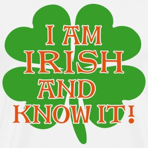 Irish and I Know It -Shamrock 2C - Men's Premium T-Shirt