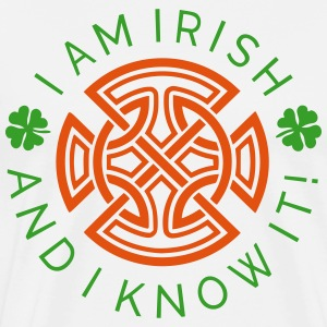Irish and I Know It - Irish Ornament 2C - Men's Premium T-Shirt