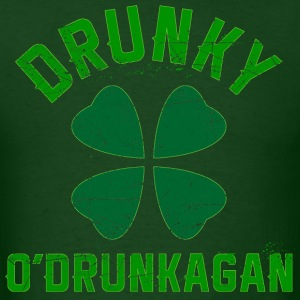Drunky O'Drunkagan grunge - Men's T-Shirt