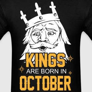 Kings are Born in October - Men's T-Shirt