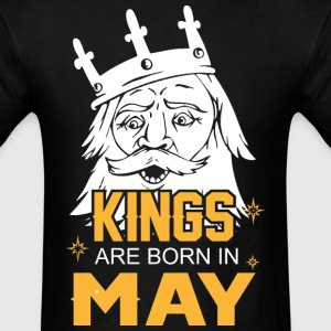 Kings are Born in May - Men's T-Shirt