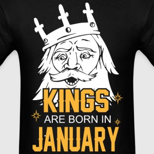 Kings are Born in Janyary - Men's T-Shirt