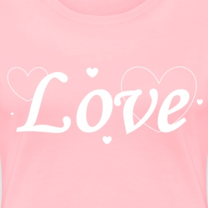Women's Love in Hearts T-Shirt - Women's Premium T-Shirt