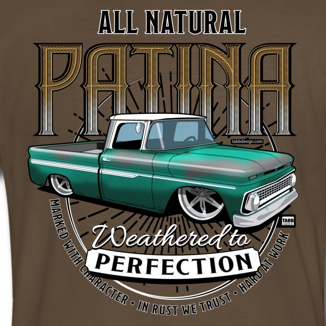 Natural Patina Green PREMIUM ART Tee (BACK)