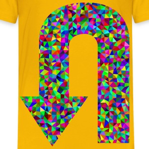 Prismatic Low Poly U Turn Arrow - Kids' Premium T-Shirt