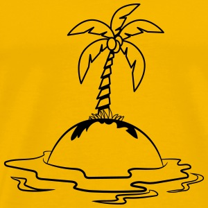 Island holiday palms T-Shirts - Men's Premium T-Shirt