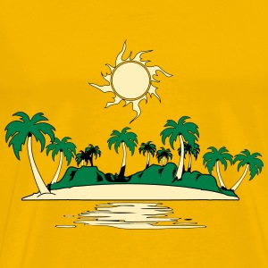 Island holiday sea sun T-Shirts - Men's Premium T-Shirt