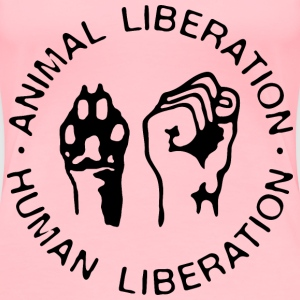 Animal Liberation/Human Liberation - Women's Premium T-Shirt