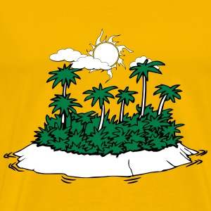 Island palms forest sun holiday T-Shirts - Men's Premium T-Shirt