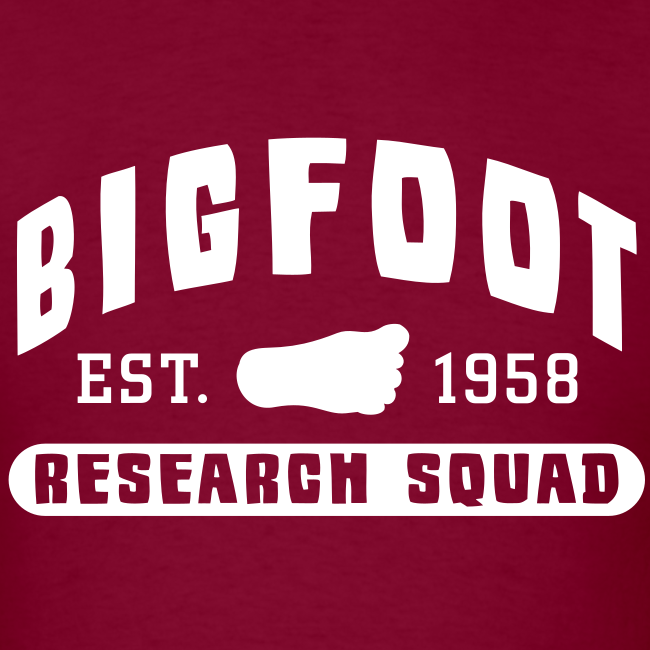 Bigfoot Research Squad - Men's Shirt - White Print