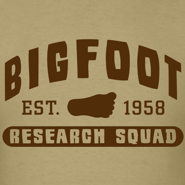 Bigfoot Research Squad - Men's Shirt - Brown Print