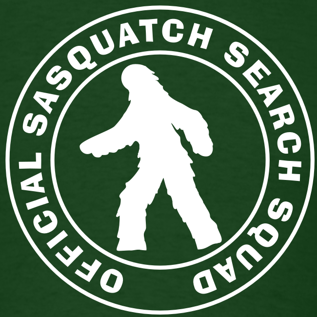 Official Sasquatch Research Squad  - Men's Shirt - White Print