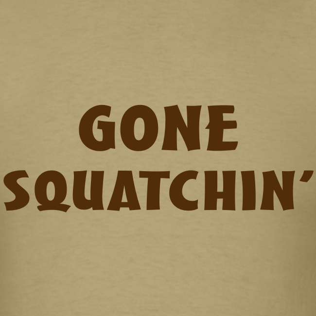 Gone Squatchin' Bigfoot Shirt - Men's - Brown Print
