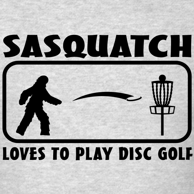 Sasquatch Loves to Play Disc Golf - Men's - Black Print