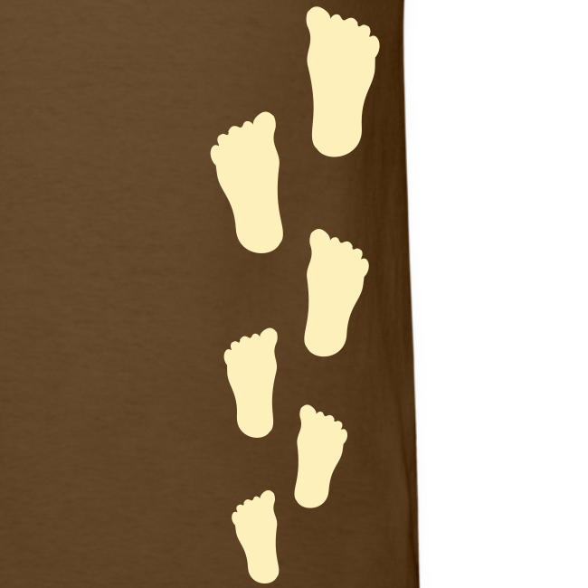 Bigfoot Sasquatch Footprint Shirt - Men's - Cream Print